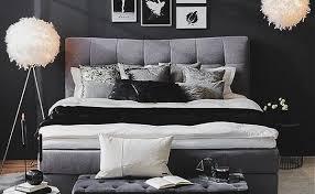 schlafzimmer in schwarz einrichten ideen möbel