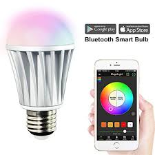 magiclight bluetooth smart led light bulb smartphone controlled