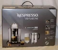Nespresso VertuoLine Chrome Espresso Machine Aeroccino Plus Milk