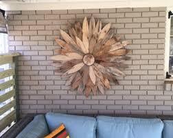 Reclaimed Wood Flower ArtFarm House Decor Rustic Home DecorWood Wall Art