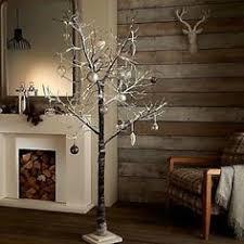 96 LED WARM WHITE 5FT 150cm SNOWY PRE LIT CHRISTMAS TWIG TREE CHABBY CHIC