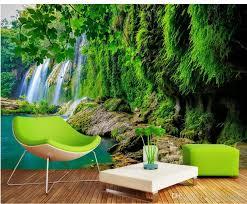 großhandel tapeten für wohnzimmer gebirgsbach wasser wasserfall grün frisch tv hintergrund wand yiwuwallpaper 5 03 auf de dhgate dhgate