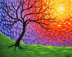 Rmb Studio New Art Abstract Tree Painting Prismatic Awakening