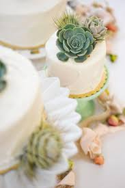 Mini Cakes With Succulent Toppers Rebekah Westover Geometric Wedding Cake