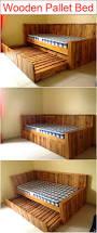 Pallet Bed Frame by Best 25 Wooden Pallet Beds Ideas On Pinterest Pallet Platform