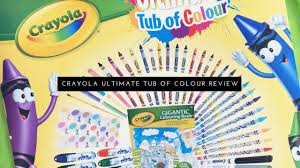Crayola Bathtub Crayons Ingredients by Crayola Ultimate Tub Of Colour Review U0026 Unboxing Youtube