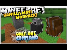 furniture in minecraft no mods only one command block one