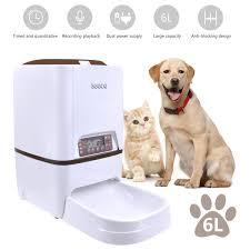 Amazoncom Automatic Dog Feeder Iseebiz 6 Liter Automatic Pet