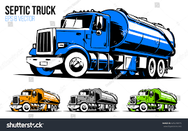 Septic Truck Llustration Stock Vector (Royalty Free) 645210775 ...