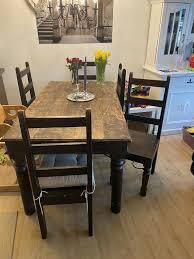 esstisch 6 stühle massivholz esszimmer günstig abzugeben