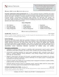 Resume Sample Project Manager Template Telecommunications