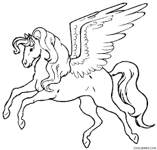Pegasus Coloring Page Pages Cute Baby