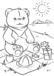 Click To See Printable Version Of Teddy Bears Picnic Coloring Page