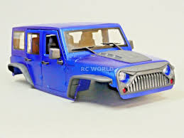 100 Truck Roll Bars RC Scale Body Shell 110 JEEP WRANGLER RUBICON Hard Body V2 W
