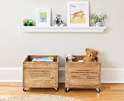 Add Wheels To Old Wooden Milk Crates For Cottage Cute Toy Boxes Click More