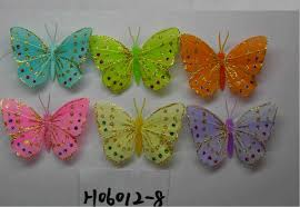 China Artificial Crafts Feather Butterfly