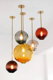 designs ideas shaped colorful glass pendant lights
