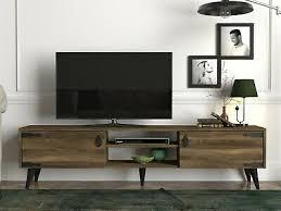 tv lowboard braun wohnwand modern sideboard holz wohnzimmer