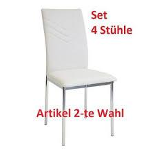 stühle 4 x esszimmerstühle verona orange chrom