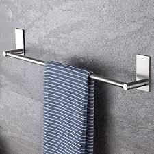 selbstklebende handtuchstange handtuchhalter ohne bohren aus gebürstetem edelstahl 55cm