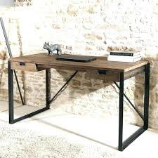bureau stylé bureau metal et bois bureau style en mal ikea bureau bois et metal