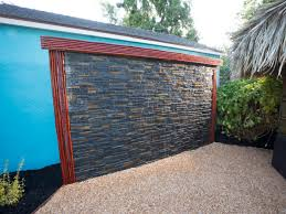 Yard Crashers: Water-Feature Wonderland   Focal Points, Water ... Ndered Wall But Without Capping Note Colour Of Wooden Fence Too Best 25 Bluestone Patio Ideas On Pinterest Outdoor Tile For Backyards Impressive Water Wall With Steel Cables Four Seasons Canvas How To Make Your Home Interior Looks Fresh And Enjoyable Sandtex Feature In Purple Frenzy Great Outdoors An Outdoor Feature Onyx Really Stands Out Backyard Backyard Ideas Garden Design Cotswold Cladding Retaing Water Supplied By