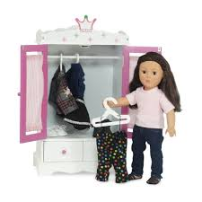 Amazon.com: 18 Inch Doll Wish Crown Storage   Doll Armoire Closet ... Kidkraft Darling Doll Wooden Fniture Set Pink Walmartcom Amazoncom Springfield Armoire Journey Girls Toysrus 18 Inch Clothes Drses Our Generation Dolls Wardrobe Toys For Kashioricom Sofa Armoire Kidkraft Next Little Kidkraft 18inch New Littile Top Youtube Chair And Shop Baby Here