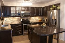 Kitchen Backsplash Designs With Oak Cabinets by Kitchen Backsplash Ideas With Dark Wood Cabinets Savae Org