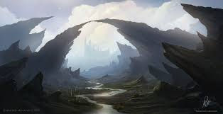 100 Rocky Landscape Landscape Painting By RaymondMinnaardeviantartcom On