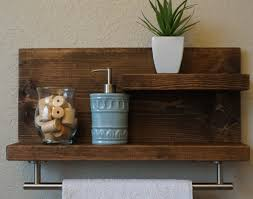 Shelf Amazing Towel Bar With 2 Over The Toilet Image Of Rustic Exquisite Bathroom Storage