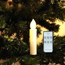 Led Christmas Candles Set Of Battery Powered Remote Control Tree Taper W Controller Mount