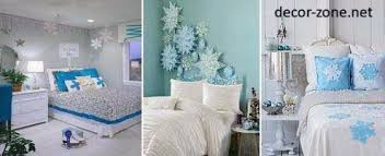 Blue Bedroom Decorating Ideas Wall Decorations Pillows Textiles