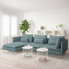 söderhamn 4er sofa mit récamiere finnsta türkis ikea