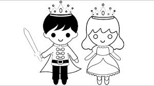Little Boy King And Girl Queen Coloring Pages L Kids Drawing Videos For