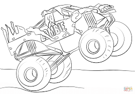 Zombie Monster Truck Coloring Page | Free Printable Coloring Pages