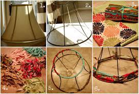 How To Make A Fabric Strip Lampshade Via Housebyhoff