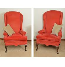 Ethan Allen Swivel Chair by Pair Of Vintage Ethan Allen Corduroy Upholstered Wing Back Chairs