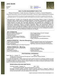 Healthcare Management Resume Sample Template Rh Resumetarget Ca Health Executive Examples 2016