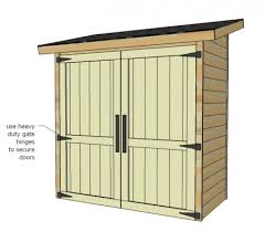 ana white build a small cedar fence picket storage shed free