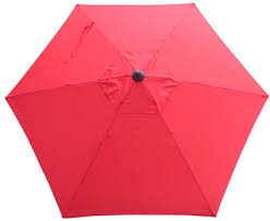 Red Steel Frame Market Patio Umbrellas