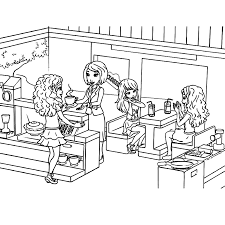 Girl Lego Coloring Pages 20 Print This Friends Sheet