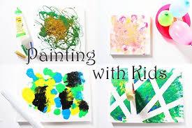 4 ideen zum malen mit kindern auf leinwand