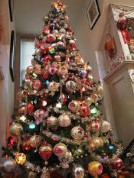 Vintage Christmas Tree Ornamentsc1940s With Beautiful Polish Decorative Ornaments