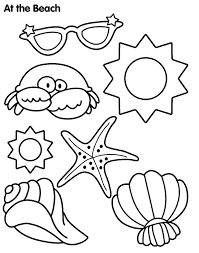 Sun And Sand Coloring Page