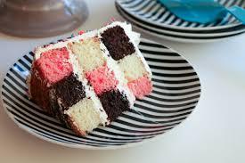 Checkerboard Cake Slice Erin Gardner