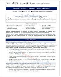 Senior Compliance Executive Resume Sample