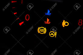 ABS Light In Car Car Dashboard In Closeup Stock Picture And