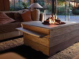 outdoor tische mit integrierten kamin bioethanol kamin