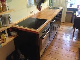 schicke ikea küche mit geräten in berlin schwarze