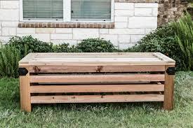 Outdoor Storage Bench Build by Diy Outdoor Storage Ottoman